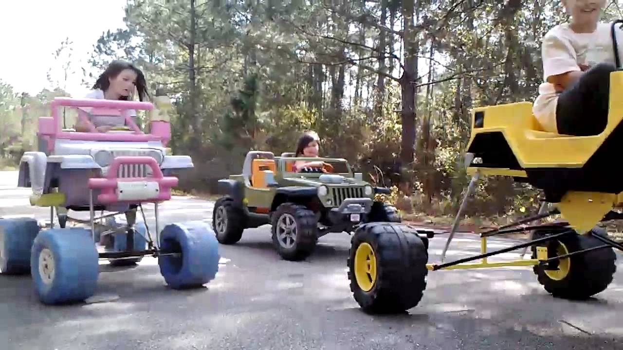 Types Of Jeeps >> Jl jr customs powerwheels lifted 4 link crawler - YouTube