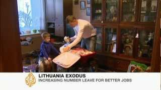 Economic woes spark Lithuania brain drain
