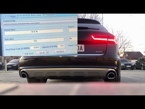 Audi A6 Allroad 3.0 BiTDI - VCDS - Soundaktor Disable And Enable, Sound Before And After
