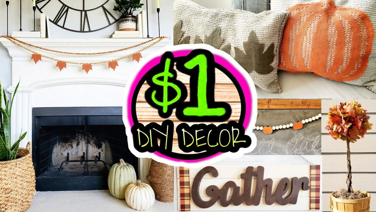 5 EASY Dollar Tree DIY Fall Decor 2020 Ideas Farmhouse Boho Style
