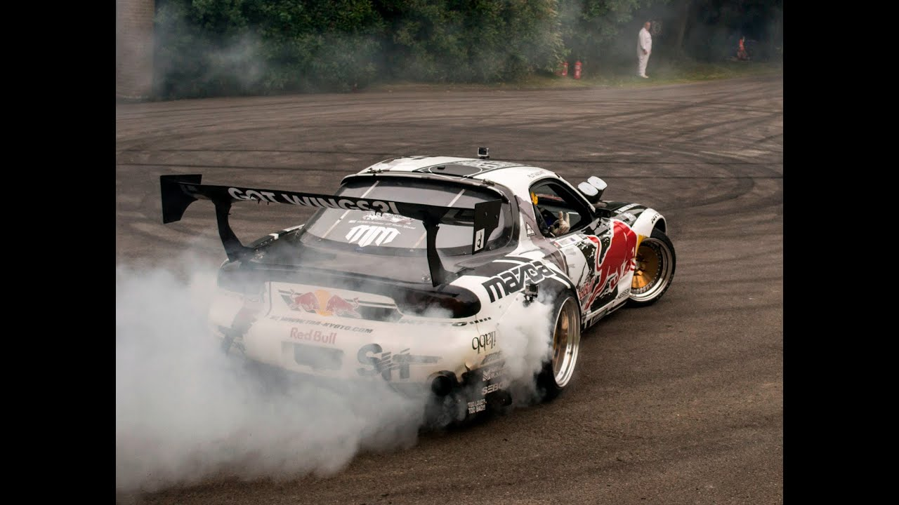 Mazda Rx7 2015 >> Mad Mike Mazda RX7 Drifts & Huge Burnout & Sounds - YouTube