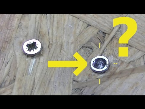 Home hack - DIY - How to remove the broken screw