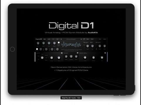 AudioKit Digital D1 iPad Synth - Sound Demo