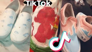 TikTok people painting on their VANS for 7 minutes straight.