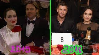Angelina Jolie sat next to Chris Hemsworth look-alike Brad Pitt at Golden Globes