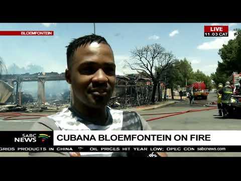 Cubana Bloemfontein burns