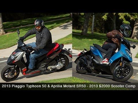 2013 piaggio typhoon 50 & aprilia sr50 - $2000 scooter comparison