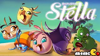 Angry Birds Stella -  ALL BIRDS NEW COSTUME Beach Day All Level 1 - 60 ALL 3 Stars Walkthrough