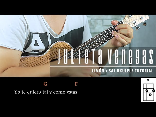 Julieta Venegas Limón Y Sal Ukulele Tutorial Express Play Along Acordes Youtube