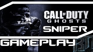 Call of Duty Ghosts Multiplayer Sniper Gameplay!