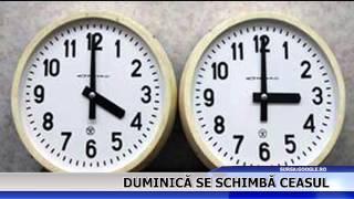 Duminică se schimbă ceasul