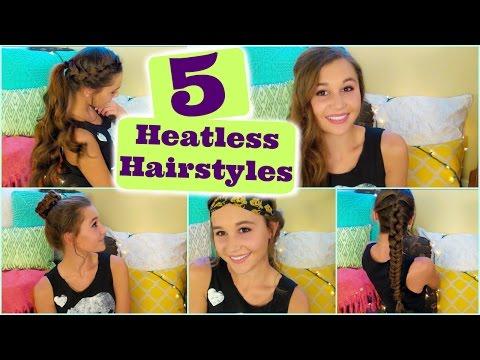 5 Heatless Hairstyles thumbnail