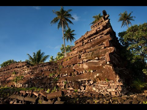Ancient Megalithic City in Micronesia Covered with SO2 from Kilauea (619)