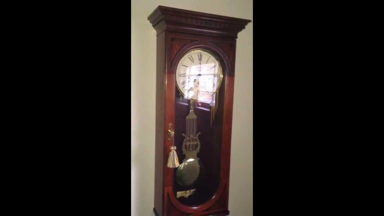 Howard Miller Triple Chime Clock Saint Michaels Chime Youtube