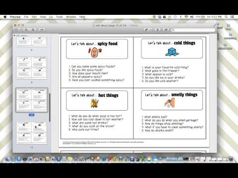 Product Preview - Conversation Starters for Early Childhood or Special Education