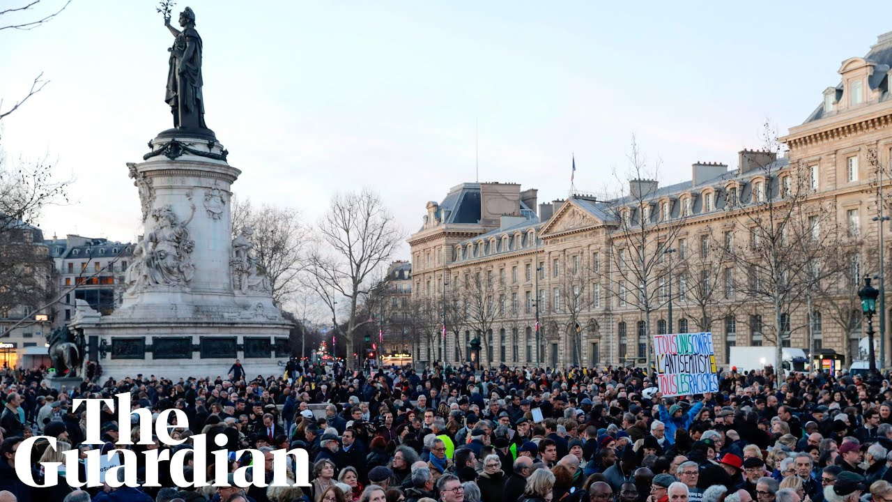 Thousands march in France against rise in antisemitism