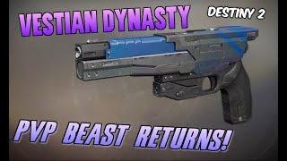 THE ORIGINAL SIDEARM KING IS BACK! New Vestian Dynasty PVP Showcase - Destiny 2 Forsaken