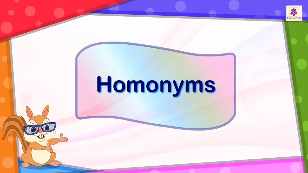 Homonyms- with Tagalog translation - YouTube