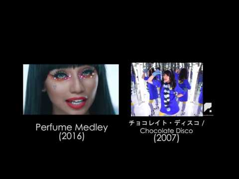 Pentatonix and Perfume Side by Side Comparison - Perfume Medley