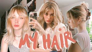 how i style my hair + bangs :D