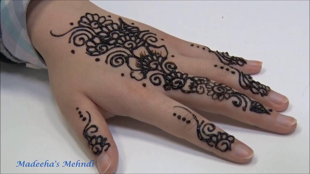 Where To Get Temporary Henna Tattoos Near Me: A Quick Simple Temporary Henna Mehndi Tattoo Design
