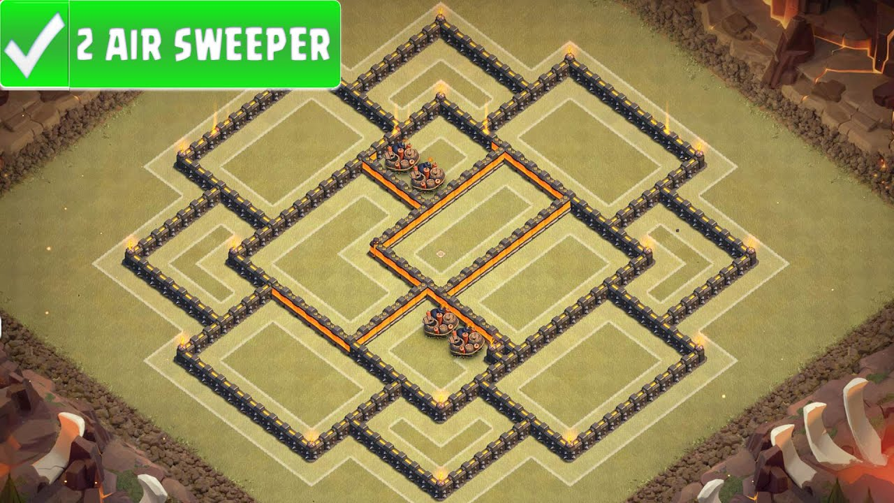 Clash of clans quot new quot best town hall 9 th9 war base war strategy