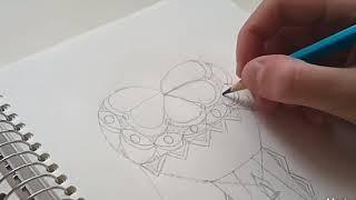 как нарисовать антистресс рисунок за 20 минут l Maggenta l Sketch