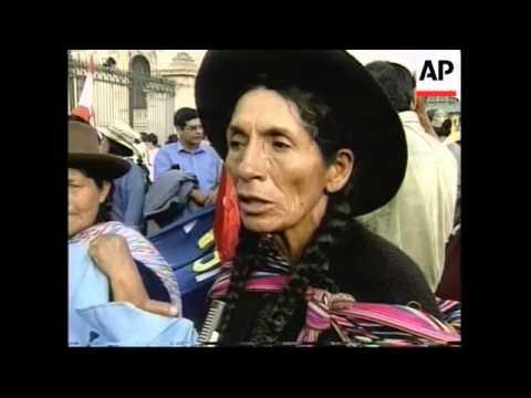 PERU: LIMA: MARCH TO DEMAND FINANCIAL HELP
