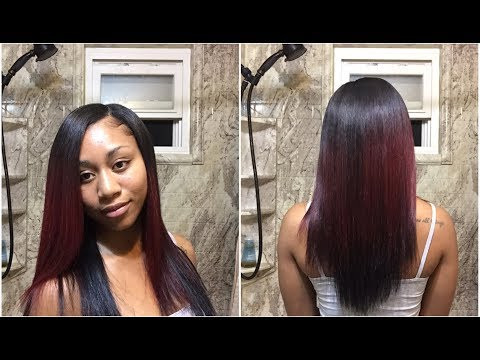 Natural Quick Weave Tutorial with Minimum Leave Out 😍