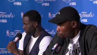 Kevin Durant & Draymond Green Postgame News Conference #2 | Warriors vs Cavs Finals Game 2