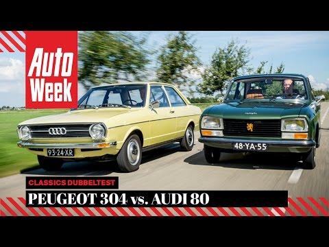 Peugeot 304 vs Audi 80 - AutoWeek Classics Dubbeltest