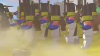 Calssic Pirate legos animated battle!!!