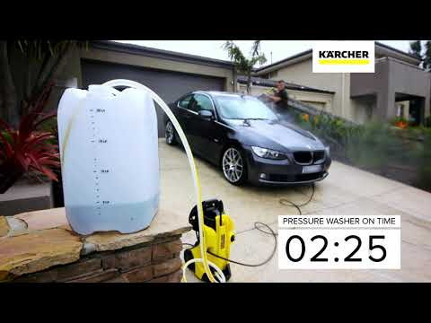 Water Saving Experiment - Kärcher K4 Pressure Washer vs. Garden Hose