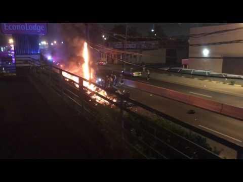 Crash in Jersey City ends in fiery heap