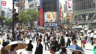 iPhone4 HD Video - Shibuya Crossing ,Tokyo -  iPhone4で渋谷スクランブル交差点HD動画