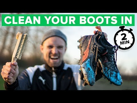 CLEAN YOUR FOOTBALL BOOTS IN 2 MINUTES | Make them last longer