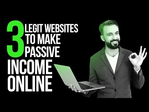 3 Legit Websites to Make Passive Income Online