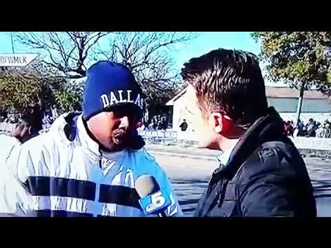 Man's Awkward Interview During Martin Luther King Parade