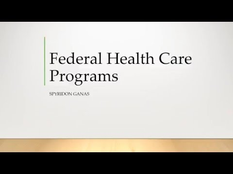 021 Federal Health Care Programs