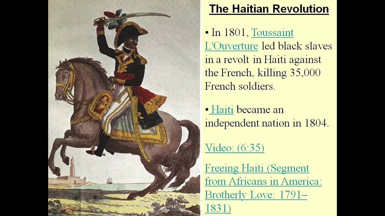 what impact did the haitian revolution The haitian revolution of 1789-1804 is no exception the enlightenment ideas of equality for men and representative government were crucial to the insurrection.