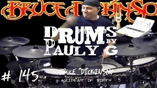 Bruce Dickinson Accident Of Birth Drum Cover By Paul Gherlani