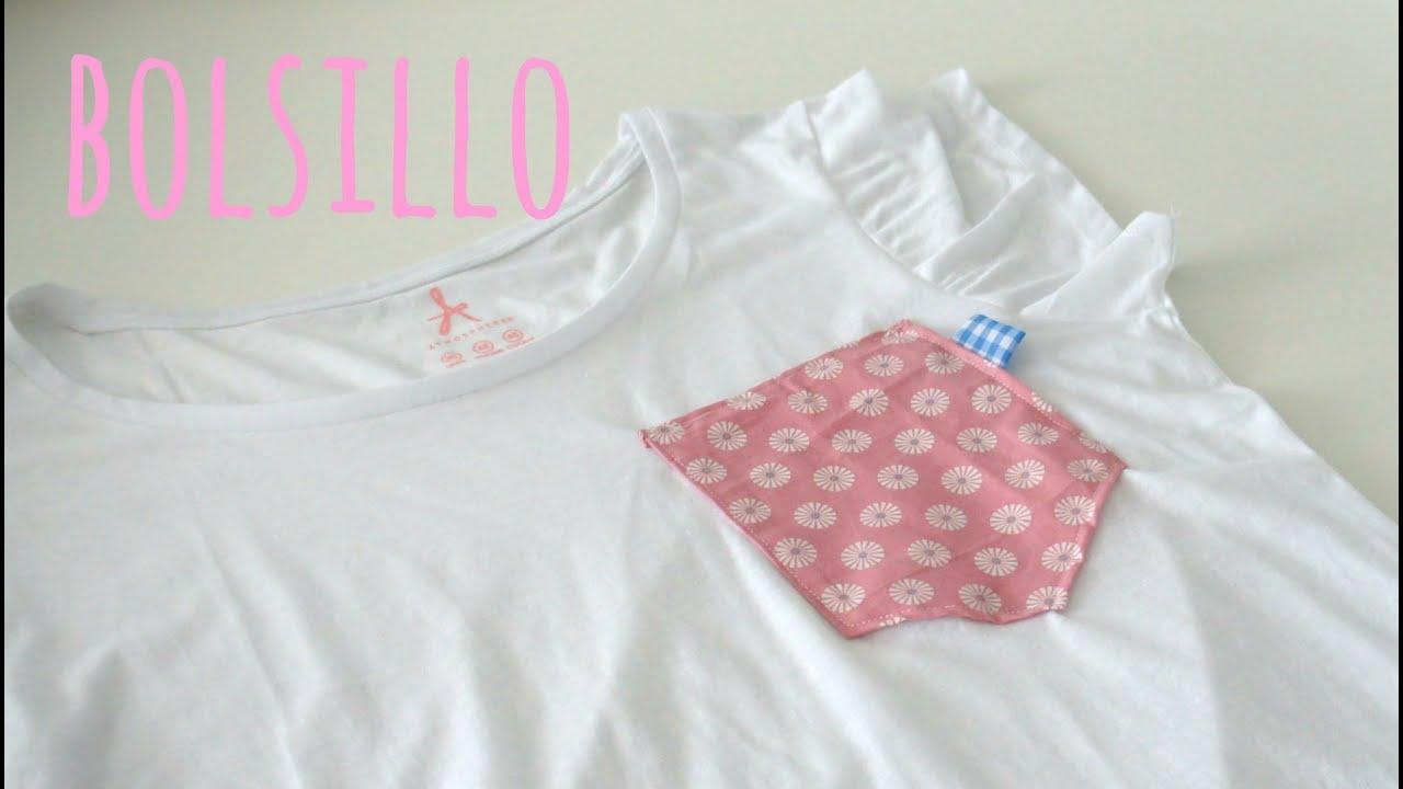 Tutorial DIY para poner un bolsillo a una camiseta basica ( patrón ...