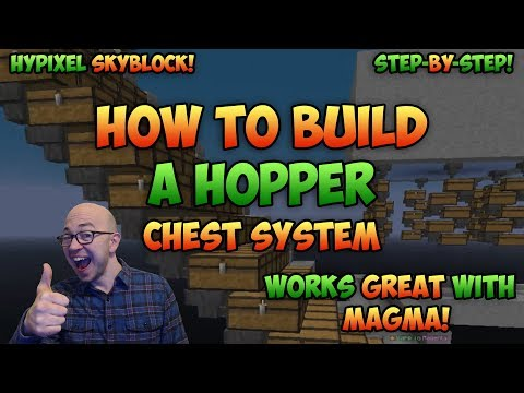 how-to-build-a-minecraft-hopper-chest-system---how-hoppers-work---hypixel-skyblock