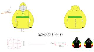 Pullover jacket windbreaker design customize for order production