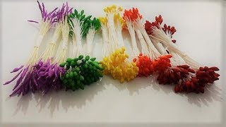 MAKE Flower stamen / DIY stamen making video/best homemade stamen By TuberDiary