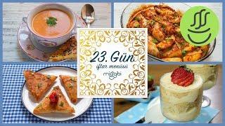 Ramazan 23. Gün İftar Menüsü: Tavuk Kanat - Karnabahar Çorbası - Çıtır Börek - Magnolia Tatlısı