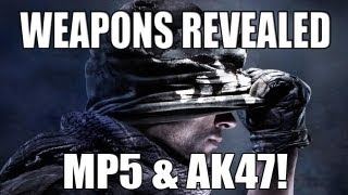 Call of Duty Ghosts Weapons Revealed! AK47 & MP5!