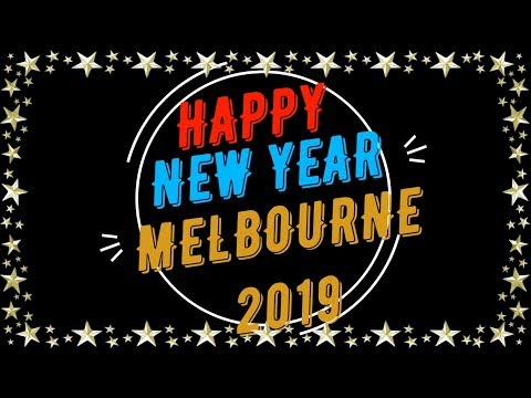 Melbourne City New Year 2019 Fireworks From Williamstown 4k