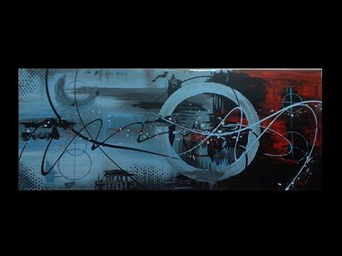 Abstract acrylic painting  - Abstract art - Fusion Circle by Roxer Vidal