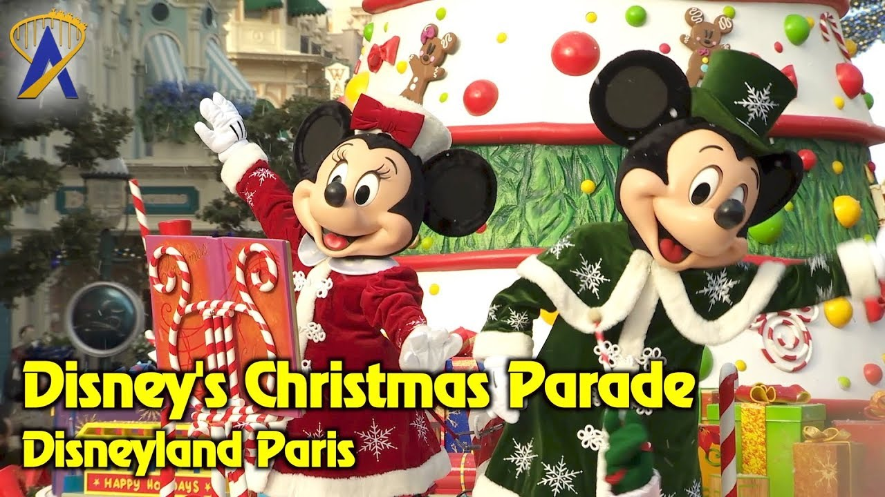 Christmas Minnie Mouse Disneyland.Disney S Christmas Parade Highlights At Disneyland Paris